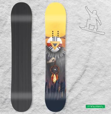 Дух заката - Наклейки на доски - сноуборд, скейтборд, лыжи, кайтсерфинг, вэйк, серф