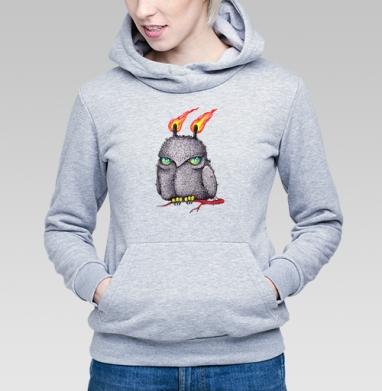 Огненная ночная сова - Купить детские толстовки с птицами в Москве, цена детских толстовок с птицами  с прикольными принтами - магазин дизайнерской одежды MaryJane