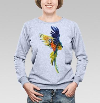 Тропический попугай - Свитшоты женские
