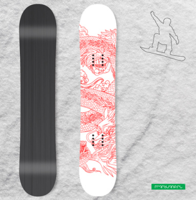 Голодный дракон - Наклейки на доски - сноуборд, скейтборд, лыжи, кайтсерфинг, вэйк, серф