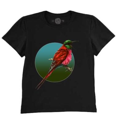 Футболка мужская чёрная 200гр - Птица на ветке