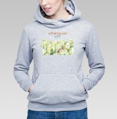 Семейка кактусов - Купить женскую толстовку