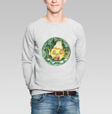 Чайный домик - Купить мужские свитшоты со сказками в Москве, цена мужских  со сказками  с прикольными принтами - магазин дизайнерской одежды MaryJane