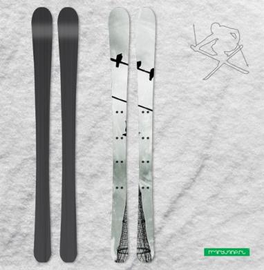 Пролетаяя над башней Шухова - Наклейки на лыжи