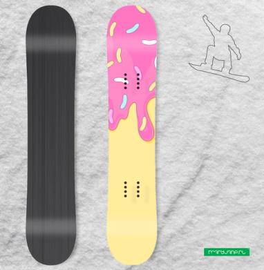 Сладкий как пончик - Наклейки на доски - сноуборд, скейтборд, лыжи, кайтсерфинг, вэйк, серф