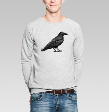 Чёрный ворон - Купить мужские свитшоты с птицами в Москве, цена мужских свитшотов с птицами  с прикольными принтами - магазин дизайнерской одежды MaryJane