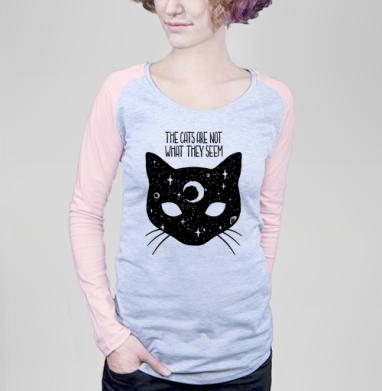 Коты не то, чем кажутся - Футболки с длинным рукавом женские. Новинки