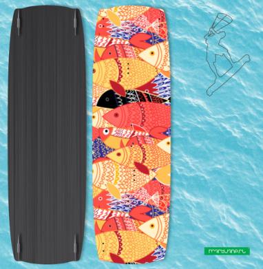 Стаи рыб - Наклейки на кайтсерфинг/вэйк