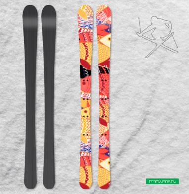 Стаи рыб - Наклейки на лыжи