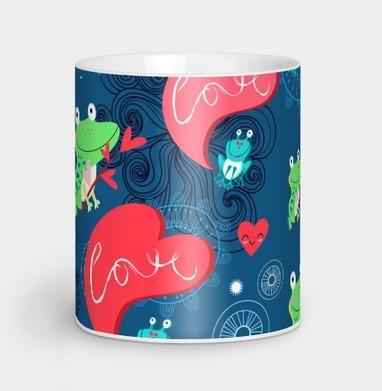 Влюблённые лягушки - Парные кружки купить