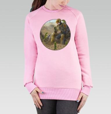 Cвитшот женский розовый  320гр, стандарт - Засуха