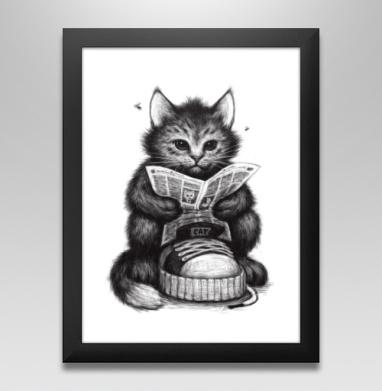 Кот в ботинке, Постер в чёрной раме