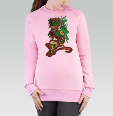 Старый Койот, Cвитшот женский розовый  320гр, стандарт