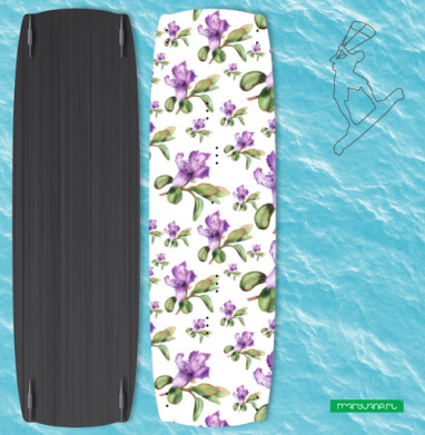 Багульник, ботаническая иллюстрация - Наклейки на кайтсерфинг/вэйк
