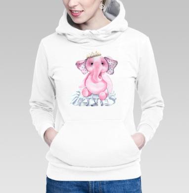 Pink elephant princess - Купить женскую толстовку