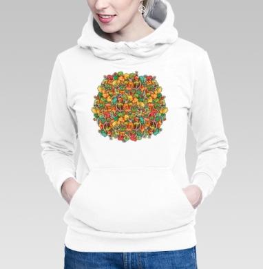 Толстовка Женская белая - Найди дерево