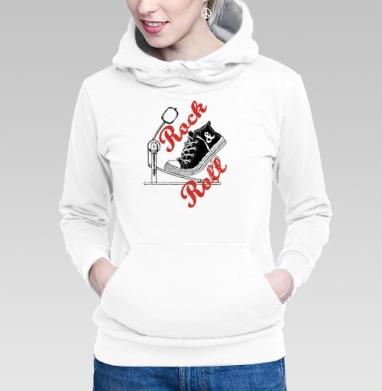 Толстовка Женская белая - Рок н ролл