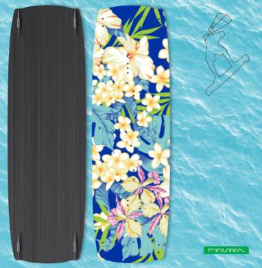 Гавайские цветы - Наклейки на кайтсерфинг/вэйк
