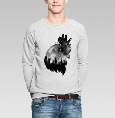 Ночной петух - Купить мужские свитшоты с акварелью в Москве, цена мужских свитшотов с акварелью  с прикольными принтами - магазин дизайнерской одежды MaryJane