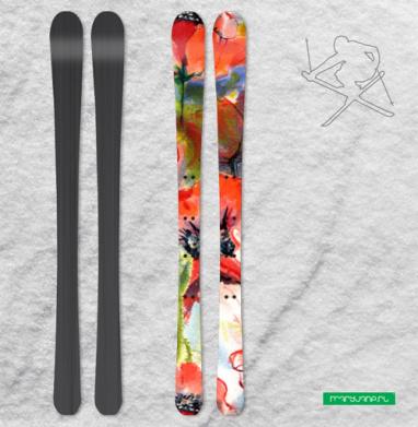 Маковая фантазия - Наклейки на лыжи