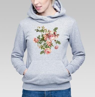 Розовые розы на черном фоне - Купить детские толстовки с летом в Москве, цена детских толстовок с летом  с прикольными принтами - магазин дизайнерской одежды MaryJane