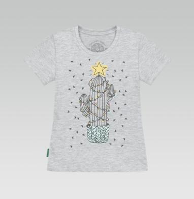 Футболка женская серый меланж, серый меланж - Каталог продукции интернет-магазина футболок №1 Мэриджейн