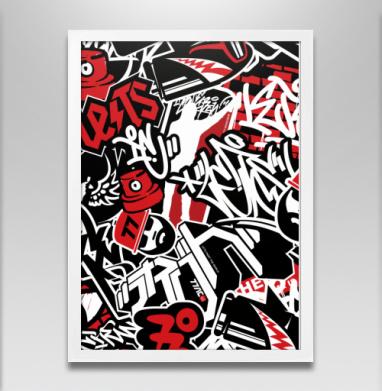 Чёрное красное белое - Постеры, геометрия, Популярные