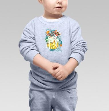 Снеголыжник - Cвитшот Детский серый меланж, Новинки