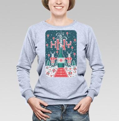 Cвитшот женский, толстовка без капюшона  серый меланж, свитшот серый меланж - Каталог продукции интернет-магазина футболок №1 Мэриджейн