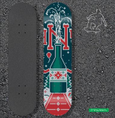 Наклейка на скейтборд - Хэппи Нью Еар