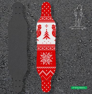 Свитер зимний - Наклейки на лонгборд