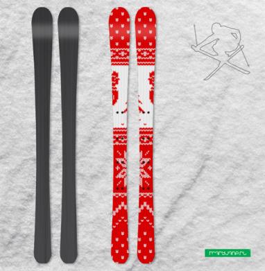 Наклейка на лыжи