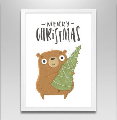 Новогодний Мишка - Постеры, новый год, Популярные