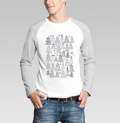 Ёлки - Футболки с длинным рукавом мужские
