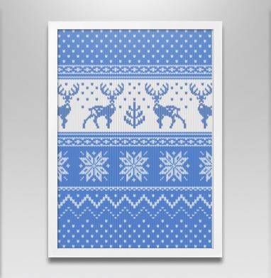 Зимний свитер с оленями - Постеры, новый год, Популярные
