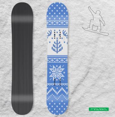 Зимний свитер с оленями - Наклейки на доски - сноуборд, скейтборд, лыжи, кайтсерфинг, вэйк, серф
