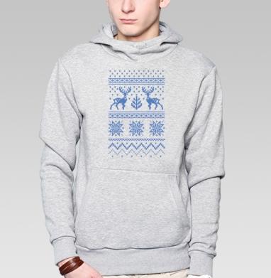 Зимний свитер с оленями - Толстовки под заказ