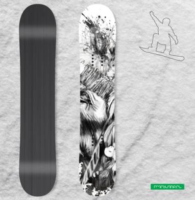 Индеец - Виниловые наклейки на сноуборд купить с доставкой. Воронеж