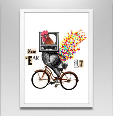 Велоретропетух - Постеры, велосипед, Популярные