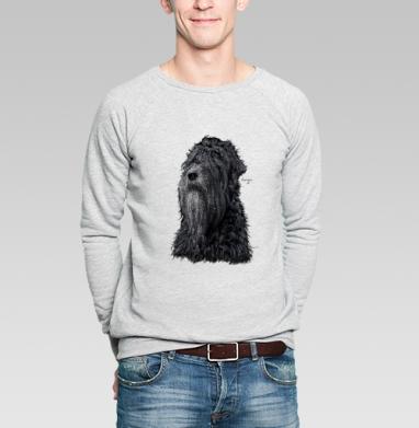 Русский черный терьер - Купить мужские свитшоты с собаками в Москве, цена мужских свитшотов с собаками  с прикольными принтами - магазин дизайнерской одежды MaryJane