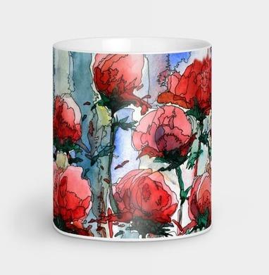 Розы - Кружки с логотипом