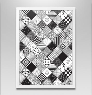 Расписные квадраты - Постеры, паттерн, Популярные