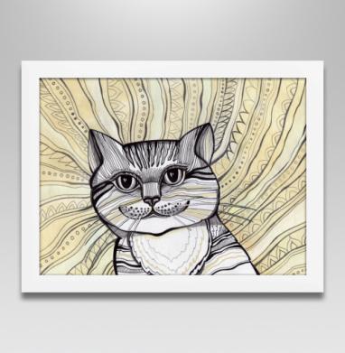 Кот - Постеры, Абстрактные