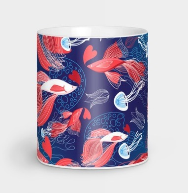 Влюблённые рыбы - Парные кружки