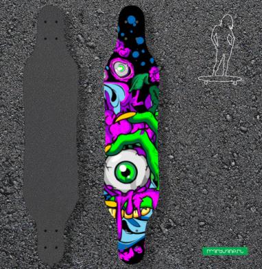 Глаз зомби - Наклейки на лонгборд
