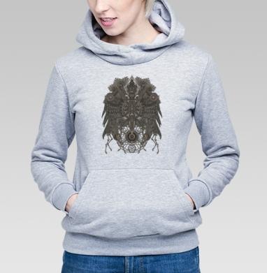 Великий Орёл, Толстовка Женская серый меланж