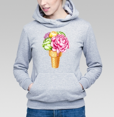 Любителям мороженного - Купить детские толстовки с акварелью в Москве, цена детских толстовок с акварелью  с прикольными принтами - магазин дизайнерской одежды MaryJane