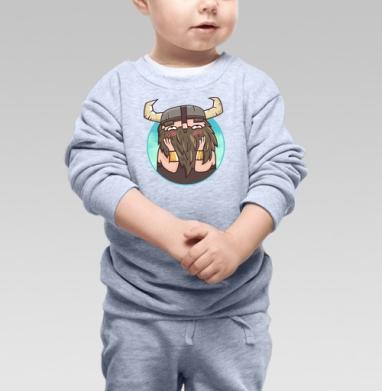 Застенчивый бородач, Cвитшот Детский серый меланж