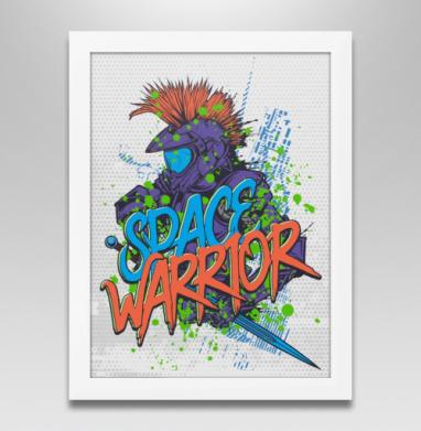 Космический воин, Постер в белой раме