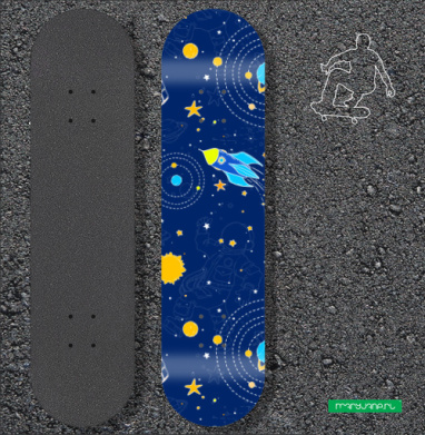 Наклейка на скейтборд